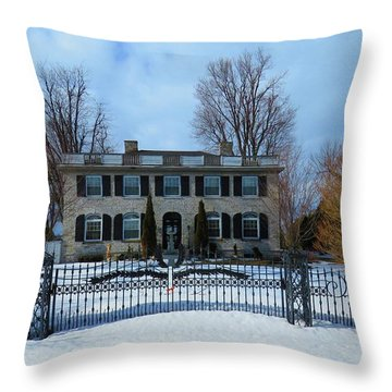 The Stone House Throw Pillow