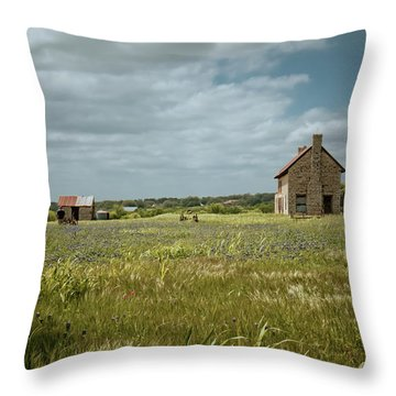 Throw Pillow featuring the photograph The Stone House by Linda Unger