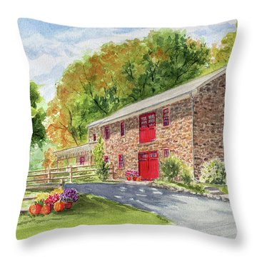 The Stone House Throw Pillow