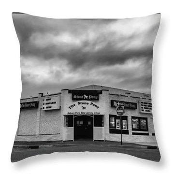 The Stone Pony Asbury Park New Jersey Black And White Throw Pillow