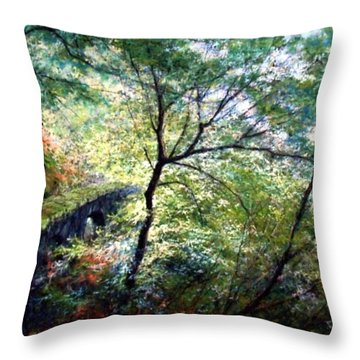 The Stone Wall Throw Pillow