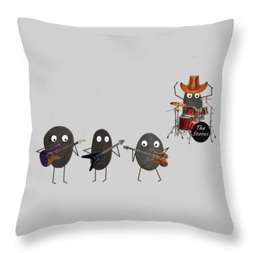 The Stones Throw Pillow by David Dehner