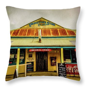 Throw Pillow featuring the photograph The Store by Perry Webster