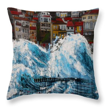 The Storm- Large Work Throw Pillow