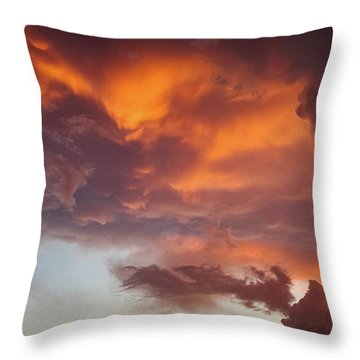 The Storm Blower Throw Pillow