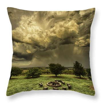 Throw Pillow featuring the photograph The Storm by Chris Cousins