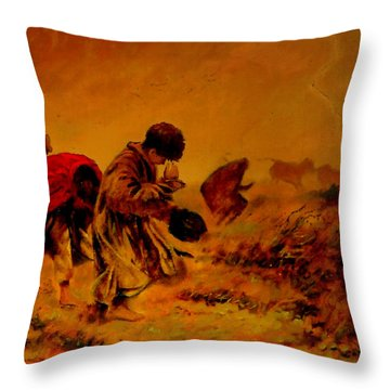 The Storm Throw Pillow
