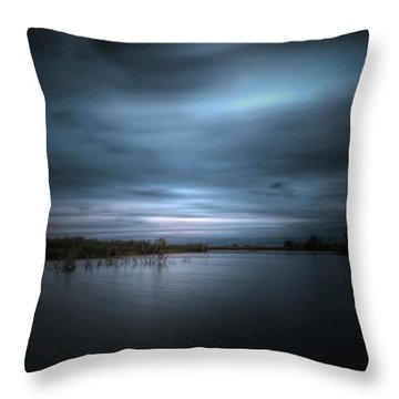 Throw Pillow featuring the photograph The Storm by Mark Andrew Thomas