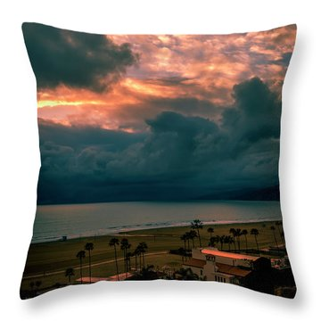 The Storm Moves On Throw Pillow