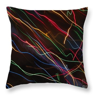 Throw Pillow featuring the photograph The Storm Of Falling Stars. Dancing Lights Series by Ausra Huntington nee Paulauskaite