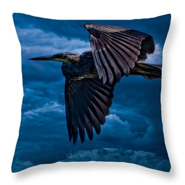 The Stormbringer Throw Pillow by Chris Lord
