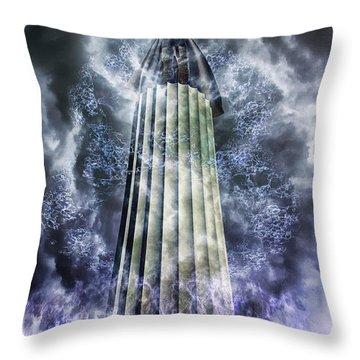 The Stormbringer Throw Pillow by John Edwards