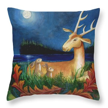 The Story Keeper Throw Pillow by Terry Webb Harshman