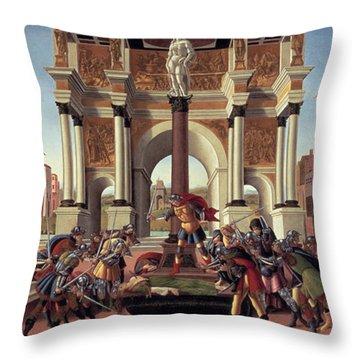 The Story Of Lucretia Throw Pillow