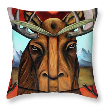 The Story Of Moose Throw Pillow