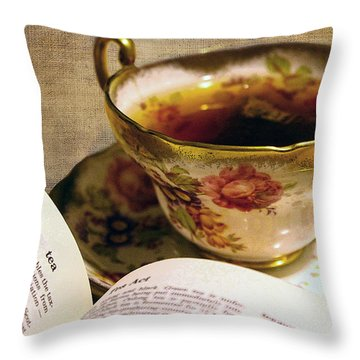 The Story Of Tea Throw Pillow