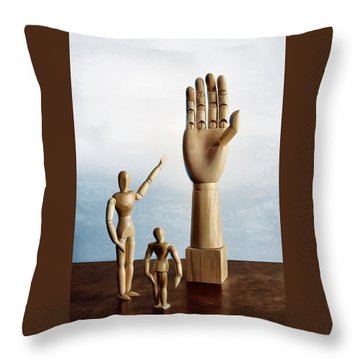 Throw Pillow featuring the photograph The Story Of The Creator by Mark Fuller