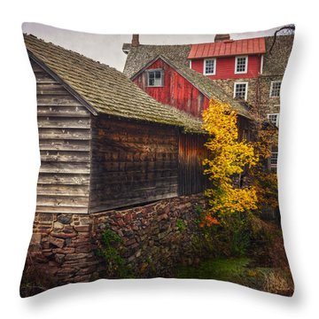 The Stover-meyers Mill Throw Pillow