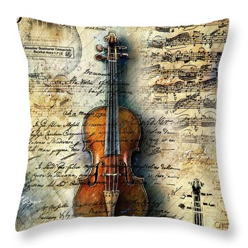 The Stradivarius Throw Pillow
