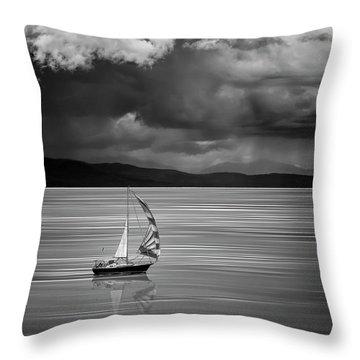 The Strait Of Georgia Throw Pillow
