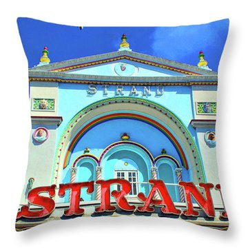 Throw Pillow featuring the photograph The Strand by Jost Houk