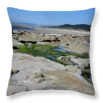 The Strange And The Beautiful Throw Pillow by Marie Neder