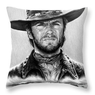 The Stranger Bw 1 Version Throw Pillow