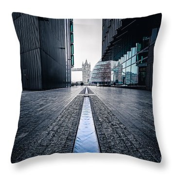 The Stream Of Time Throw Pillow