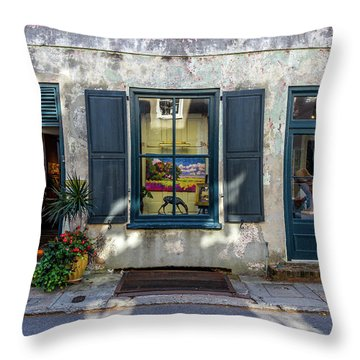 The Streets Of Charleston Throw Pillow