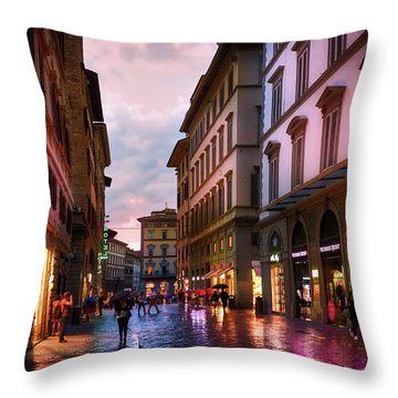 The Streets Of Florence Throw Pillow