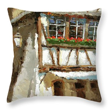 The Streets Of Strasbourg Throw Pillow