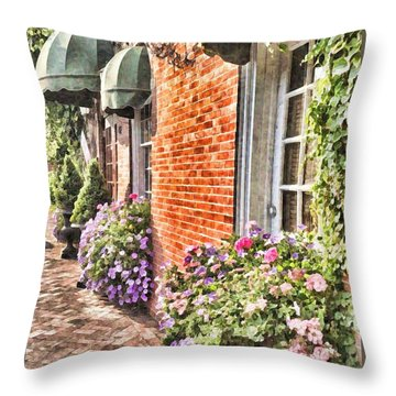The Streets Of Summer Throw Pillow