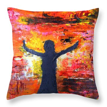 The Strength Of The Survivor 2 Throw Pillow