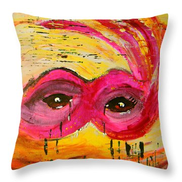 The Strength Of The Survivor 3 Throw Pillow