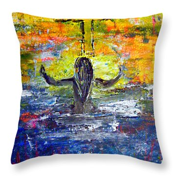 The Strength Of The Survivor 4 Throw Pillow