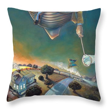 The Strife Of Wanderlust In A Dream Throw Pillow by Patrick Anthony Pierson