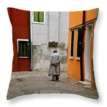 The Stroll Throw Pillow