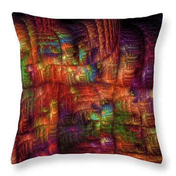 The Strong Fabric Of Dreams Throw Pillow by Menega Sabidussi
