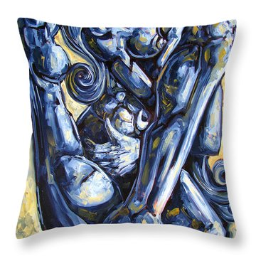 The Struggle Throw Pillow