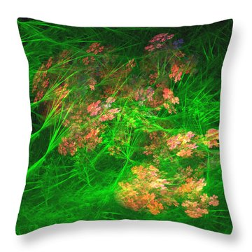 Throw Pillow featuring the digital art The Struggle by Richard Ortolano