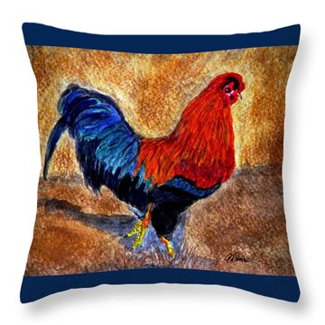 The Strut Throw Pillow by Angela Davies