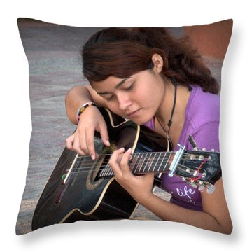 Throw Pillow featuring the photograph The Student by Jim Walls PhotoArtist
