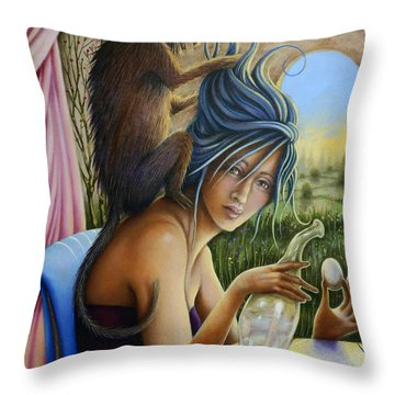 The Stylist Throw Pillow