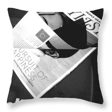 Throw Pillow featuring the photograph The Stylist by Rebecca Harman