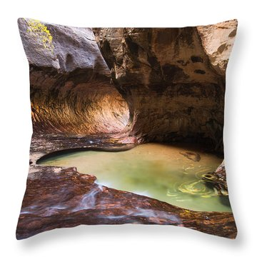 Throw Pillow featuring the photograph The Subway by Patricia Davidson