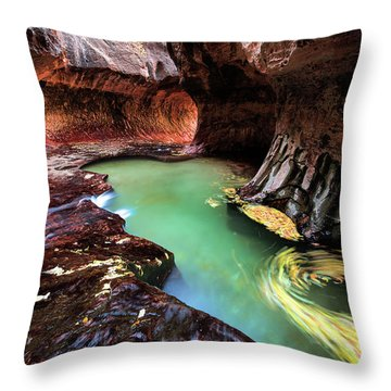 The Subway Swirls Throw Pillow