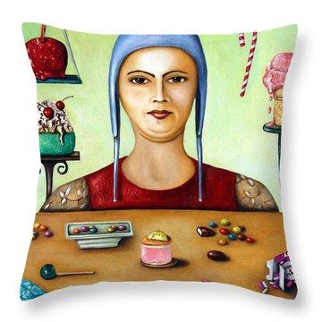 The Sugar Addict Throw Pillow by Leah Saulnier The Painting Maniac