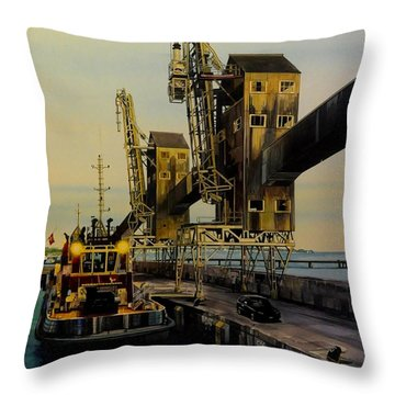 The Sugar Towers Of Barbados Throw Pillow