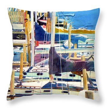 The Summer Line Up Throw Pillow