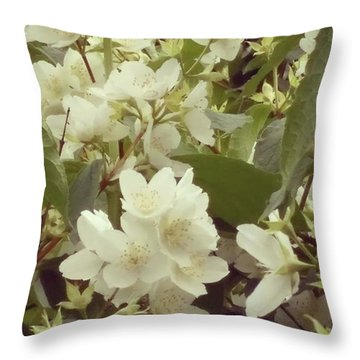 The Summer Smells Like A Mock Orange Throw Pillow